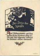 AK Scherenschnitt, Baum, Künstlerkarte Georg Plischke, Der Stein Der Weisen - Silhouettes