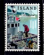 Iceland 1963 5k  Herring Boat Issue #354 - 1944-... Republic