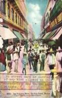 MEXICO Sonora News 1908 Mailed PC, Animated View At San Luis Potosi San Francisco Street - México