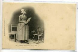 05-004 COSTUMES BRIANCONNAIS Grand Villard Paysanne Quenouille Rouet 1904 Dos Non Divisé - Zonder Classificatie