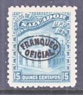 El Salvador O 19  *  Reprint  Wmk. - El Salvador