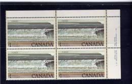 Canada, 1979, # 726, Hight-value Natrional Parks Defenitives;   Fundy Plate 1 - Blocks & Sheetlets