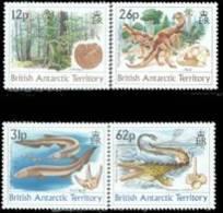British Antarctic Territory 1991 Fossil Prehistoric Dinosaur  Set  #172-5 - British Antarctic Territory  (BAT)