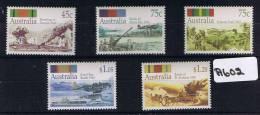 Australia 1992   50th Aniv War 5val Muh A602 - 1990-99 Elizabeth II