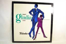 Plaque Publicitaire Années 1960 - 1980. GLADIA Terlenka, Vêtements Mode Textiles Design Pub Plv - Placas De Cartón