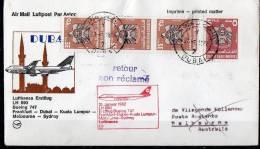 Emirates First Flight To Austrralia 1982 (Mo 39 Gee1) - Emirats Arabes Unis