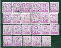 BelgiëY&T Nr° 1076 ° 23 St. Ronde Stepel Gent 1 1959,60,61,62,67,68 - 1953-1972 Brillen