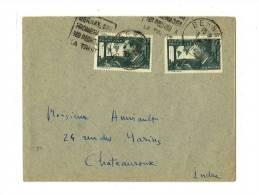 27   EURE    BERNAY     LSI - Tarif à 50c. (9.8.1926/11.7.1937)N°337 X 2  – 30c.  MERMOZ - Lettres & Documents