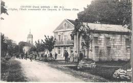 39 - CHAPOIS : L'EGLISE ,L'ECOLE COMMUNALE DES GARCONS ,LE CHATEAU D'EAU . - France