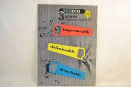 Plaque Publicitaire Années 1960 - 1970, VELUCO 3 Stars  . Vêtements Mode Textiles Design Pub Plv - Placas De Cartón