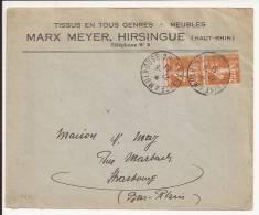 S682 - Ambulant FERRETTE A MULHOUSE 2° - 1933 - - Marcophilie (Lettres)