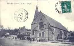 HAUTE NORMANDIE - 76 - SEINE MARITIME -  SAINT AUBIN SUR SCIE - La Mairie Et L'église - Animation - Altri Comuni