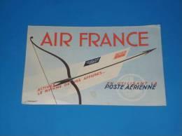 Publicite Ancienne  AIR FRANCE Poste Aerienne  Format 14 Par 9cm Illustrateur J Prenant - Aviation Commerciale