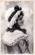 Junge  Hübsche Frau Mit Modischer Haube, Glaube, Gelaufen 1908 - Frauen