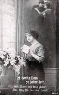 """Junge  Hübsche Frau """"Ich Denke Dein Zu Jeder Zeit"""", Gelaufen Um 1914 - Frauen"""