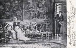 2 Damen Und Ein Mann, Gelaufen 1901 - Frauen