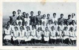 Junge Schwarze Frauen Und Mädchen, TOGO - Westafrika - Internat De Jeunes Filles D'AGOU, Nicht Gelaufen Um 1920 - Frauen