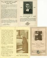 3 Images Religieuses - Frère Mutien Marie De Ciney - Institut Des Frères Des Ecoles Chrétiennes   (2534) - Religion & Esotericism
