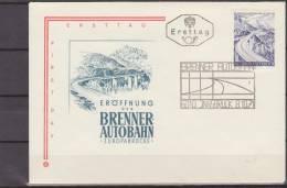 Osterreich, Austria, 1971, Europe, Brenner Autobahn, Highway, FDC - Transportmiddelen