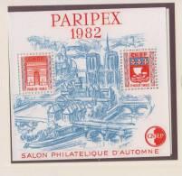 France - Bloc CNEP 1982 - N° 3 ** - PARIPEX - Salon Philatélique De Paris - - CNEP