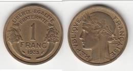 **** 1 FRANC 1935 MORLON **** EN ACHAT IMMEDIAT !!! - France