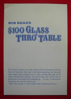 Bob Read's $100 Glass Thro' Table - Other
