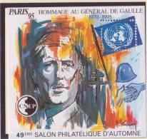 France - Bloc CNEP 1995 - N° 21 ** - PARIS 95 - Salon Philatélique - Hommage Au General De Gaulle - CNEP