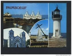 44  PAIMBOEUF  Carte Multi Vues Le Port L Eglise Saint Louis Monument Dedie Aux Marins Victimes De Leur Devoir Le Phare - Paimboeuf