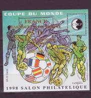 France - Bloc CNEP 1998 - N° 27 ** - Surchargé Or - COUPE DU MONDE Salon Philatelie De Lyon - CNEP