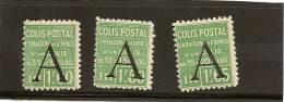 Colis Postaux Numero Yvert 85 86 87 Neuf Charniere Cote 60 Prix 20 - Neufs