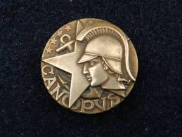 insigne  MARINE  :   CANOPUS  ---   DRAGUEUR COTIER  1956