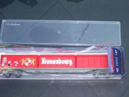 """ELECTROTREN H0 Réf.: 5557 K : Wagon SNCF à Parois Coulissantes """"KRONENBOURG"""" - Wagons Marchandises"""