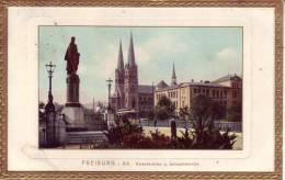 Freiburg I.Breisgau, D - 5 Lithos , Drei Davon Mit Goldprägerand - Ansichtskarten