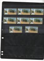 ISRAEL,2012,ATM LABELS, TURTLES,GREEN SEA TURTLE, MNH , 8v - Schildpadden