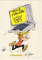 JANIN. Germain. Très RARE Carte Postale Pour L´ Ecole Publique, Quinzaine 1985. épuisée ! - Cartes Postales