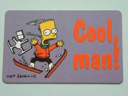 COOL MAN ! ( Matt Groening ) (32) Learn How To Ski TM & C 1997 Twentieth Century Fox Film C° ( GIFA Gifts Belgium ) ) ! - Gatos