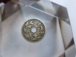 BELGIQUE + 5 Cent 1907 TTB VOIR PHOTOS - 03. 5 Centimes
