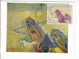 Carte-Maximum FRANCE  N°Yvert 1733 (DERAIN - Les Deux Péniches) Obl Sp Ill 1er Jour 1972 (Ed Braun) - Cartoline Maximum
