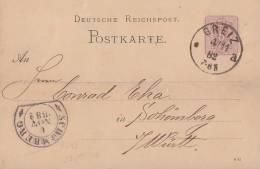 DR GS Greiz 4.11.82 Mit Nachv. Ankunftsstempel Steigbügelstempel Schömberg 6.11.82 - Deutschland