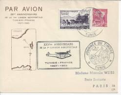 TUNISIE -1952 - COURRIER DE TUNIS A DESTINATION DE PARIS  - TB - - Tunisie (1888-1955)
