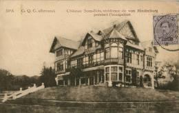 SPA G Q G Allemand Chateau Sous-Bois  Residence De Von Hindenburg Pendant L'occupation - Spa
