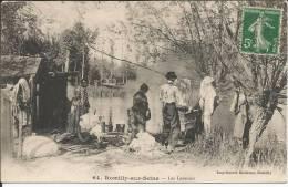 Cpa, Romilly-sur-Seine (Aube), Les Laveuses, Très Bien Animée - Romilly-sur-Seine