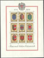 1976 1000 Jahre Österreich  ANK Block 6 / Mi Block 4 / Sc 1042 / YT BF 9 Gestempelt/oblitere/used - Blocs & Hojas