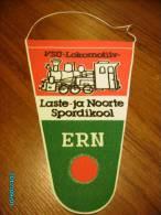 RUSSIA  USSR  ESTONIA  PENNANT   RAILWAY  TRAIN  LOCOMOTIVE - Transportation