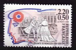 FRANCE  1989 -  YT  2566 -   Vicomte De Noailles - Oblitéré - France