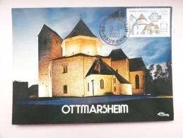 CARTE MAXIMUM MAXIMUM CARD ABBATIALE D´OTTMARSHEIM FRANCE - Eglises Et Cathédrales