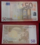 ITALIA ITALY 50 EURO 2002 TRICHET SERIE S 2468004868 J042A4 CIRC. CIFRE TUTTE PARI ALL PAIR FIGURES - EURO