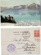 SWITZERLAND 1903 Chateau Chillon Et Le Grammont Hotel Victoria - Schweiz