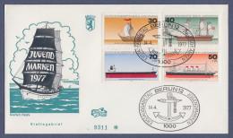 Berlin FDC 1977 - MiNr. 544-547 - Jugendmarken - Deutsche Schiffe (g) - [5] Berlino
