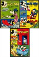 3 X Micky Maus Comic  -  Nr.25 Von 1975  -  Nr. 28 Und Nr. 30 Von 1984 - Micky Maus